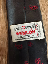 "Load image into Gallery viewer, Vintage Gentry Wembly ""Wemlon"" Grey, Black, Red Tie"