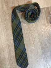 Load image into Gallery viewer, Vintage Gentry Blue and Yellow Plaid Wool Tie