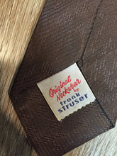 Load image into Gallery viewer, Vintage Frank Struser Brown and Gold Tie
