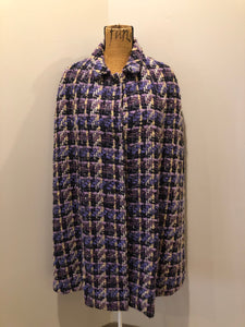 Purple Handmade Wool Cape