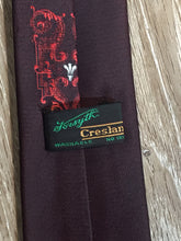 Load image into Gallery viewer, Vintage Creslan Burgundy, Red and White Tie