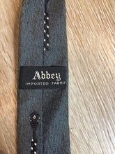 Load image into Gallery viewer, Vintage Abbey Grey, Black and White Pattern Tie