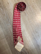 Load image into Gallery viewer, Vintage Park Lane for Eaton Red with Diamond Pattern Tie