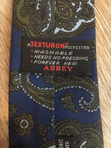 Vintage Abbey Blue and Green Paisley Tie