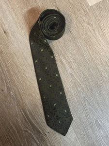 Vintage Superba Olive and Black TIe