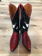 Load image into Gallery viewer, Nine West Red Star Cowboy Boots