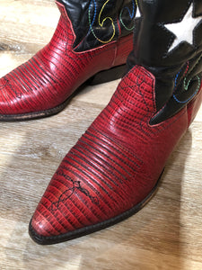 Nine West Red Star Cowboy Boots