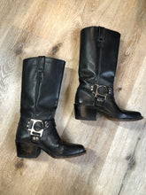 Load image into Gallery viewer, Vintage Black Boulet Motorcycle Boots