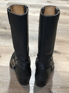 Vintage Black Boulet Motorcycle Boots