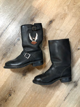 Load image into Gallery viewer, Harley Davidson Black Motorcycle Boots