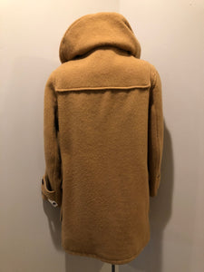 Kingspier Vintage - Deadstock Hudson's Bay Company duffle coat in camel with wooden toggles, flap pockets, zipper closures and hood.