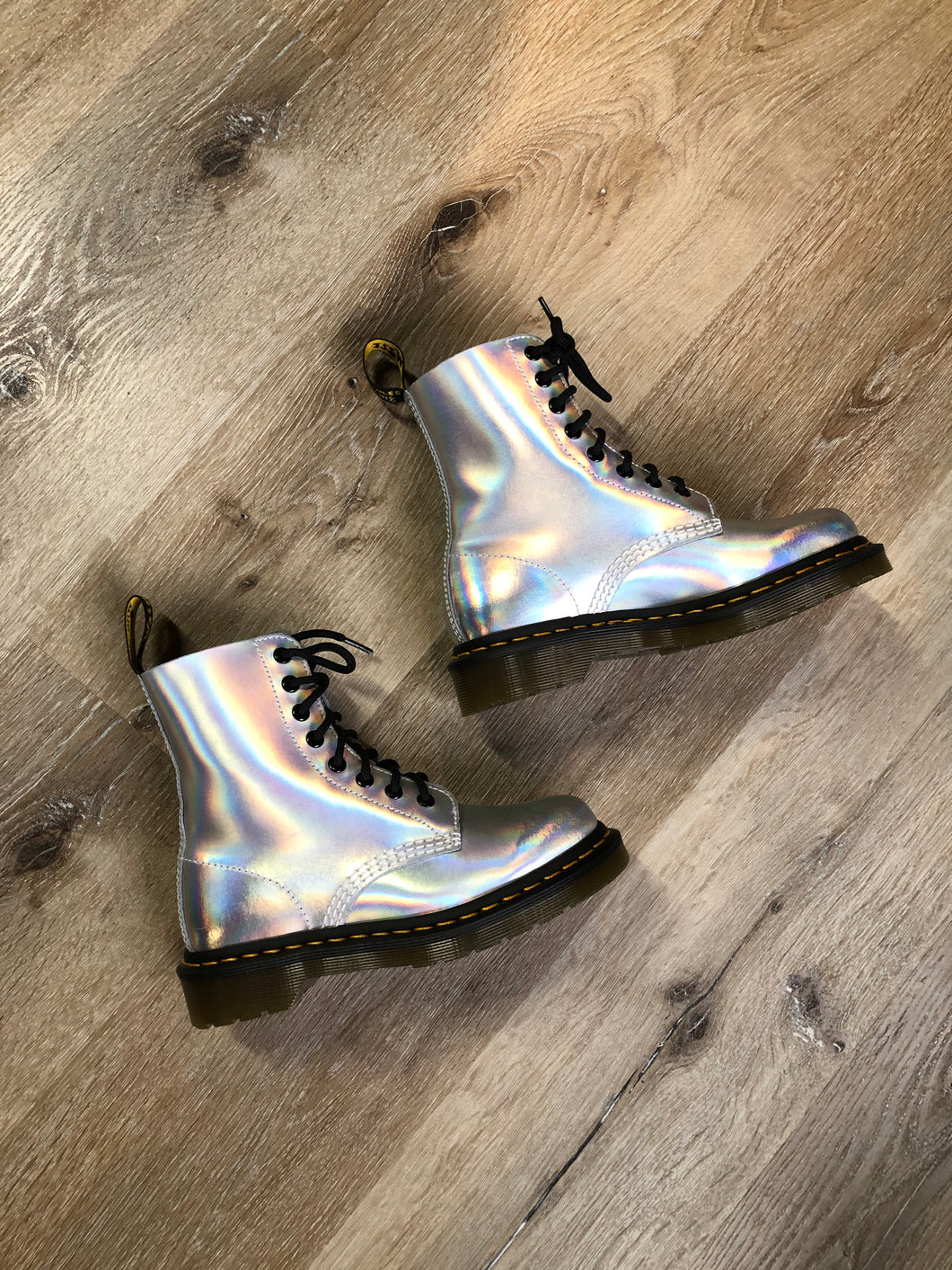Doc Martens Holographic Silver 1460 Boot