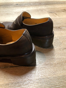 Vintage Doc Martens Brown Chunky Heel Loafer