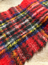 Load image into Gallery viewer, Kingspier Vintage - Vintage mohair blend red plaid scarf. Made in Scotland.