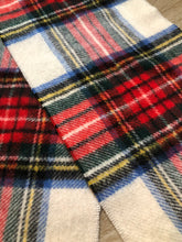 Load image into Gallery viewer, Vintage Shetland Plaid Wool Scarf