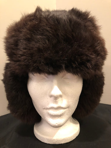 Kingspier Vintage - Vintage Russian ushanka dark brown fur hat. The tag reads XXL but it fits small.  This hat is in excellent condition.