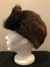 Load image into Gallery viewer, Dark Brown Fur Hat with Front Flap