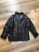 Load image into Gallery viewer, II sheng Black Leather Jacket