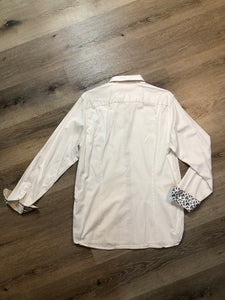 Kingspier Vintage - Ted Baker London white button up shirt. Mens size small.