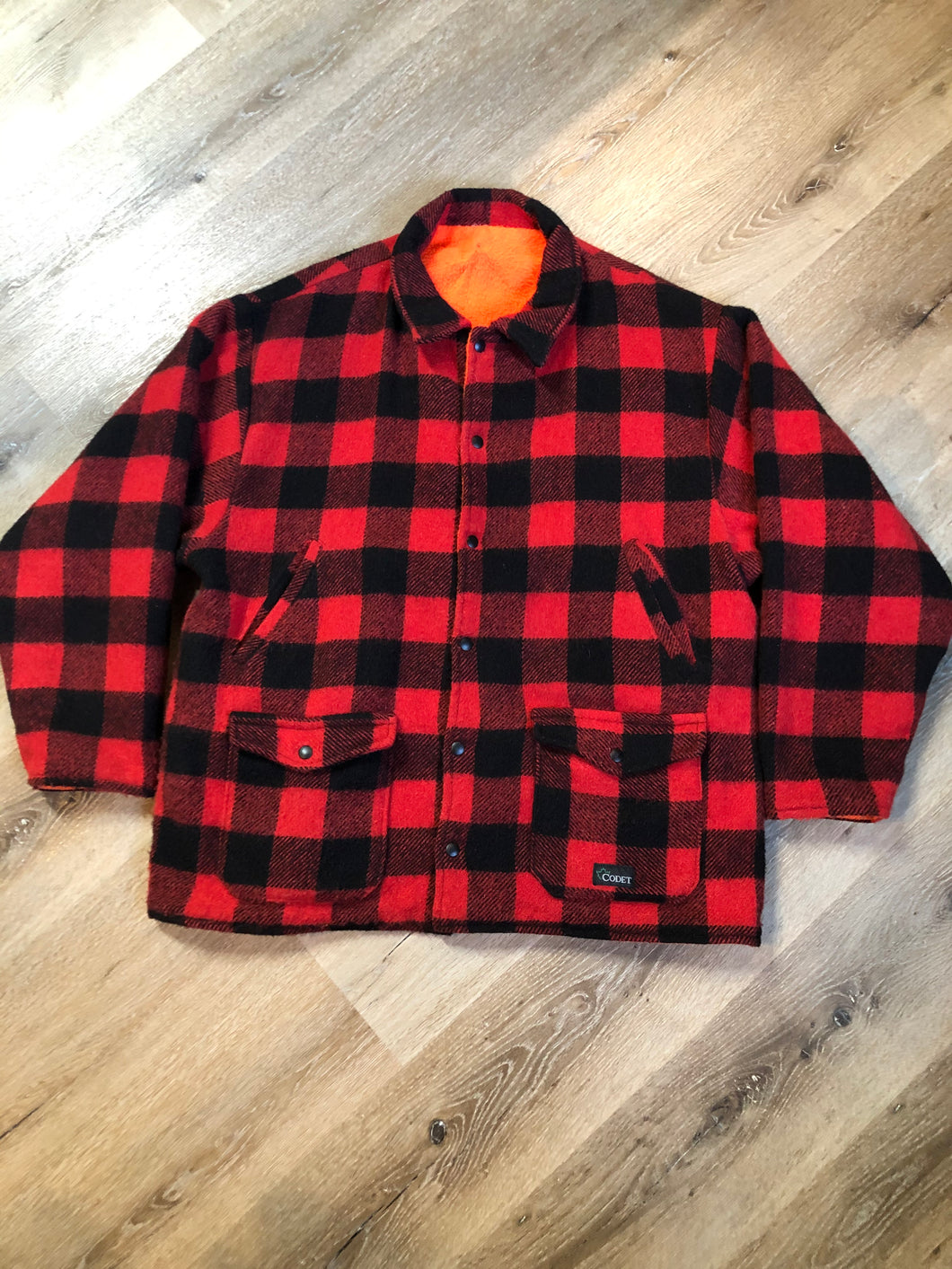 Kingspier Vintage - Vintage Codet Buffalo Plaid Wool jacket Canada