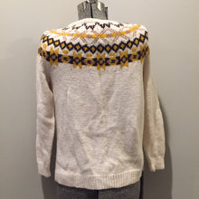 Load image into Gallery viewer, Hand Knit Cream, Brown and Yellow Lopi Cardigan, Made in Nova Scotia