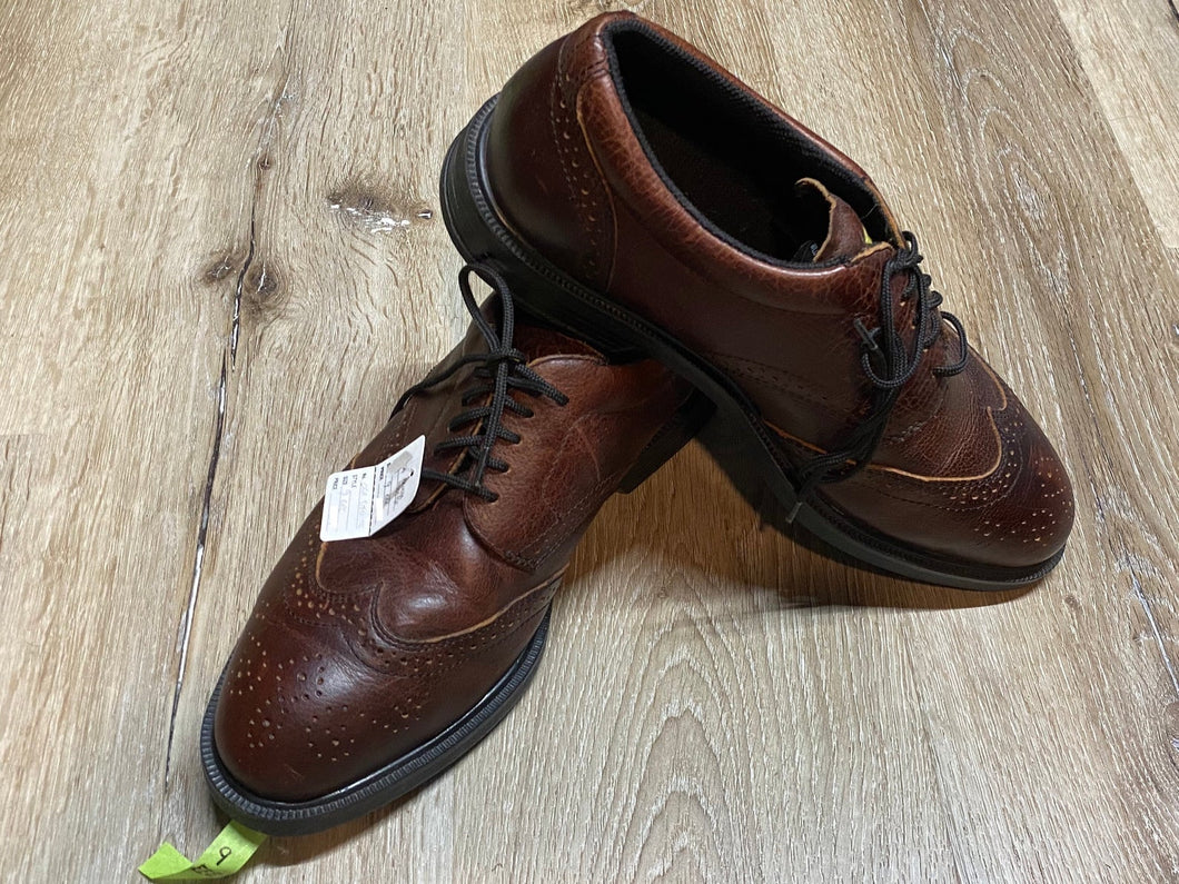 Kingspier Vintage - Brown Full Brogue Wingtip Derbies by J.B. Goodhue Star Brand Workwear - Sizes: 9M 11W 42EURO, Made in China, CSA Protective Footwear Grade 1, Oil Resistant Rubber Soles with Shock Absorber System</p>