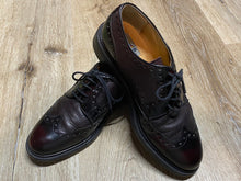 Load image into Gallery viewer, Kingspier Vintage - Dark Red Quarter Brogue Wingtip Derbies by Aldo - Sizes: 8M 10W 41EURO, Made in Italy, Vero Cuoio Leather Soles, Rubber Heels
