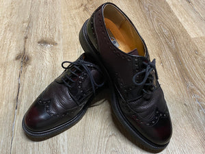 Kingspier Vintage - Dark Red Quarter Brogue Wingtip Derbies by Aldo - Sizes: 8M 10W 41EURO, Made in Italy, Vero Cuoio Leather Soles, Rubber Heels