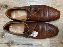 Load image into Gallery viewer, Cap Toe Brogue Dack's Monk Strap Shoes 11M 44 (Canada)