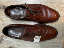 Load image into Gallery viewer, Kingspier Vintage - Brown Plain Toe Derbies by The Florsheim Shoe - Sizes: 8.5M 10.5W 41-42EURO, Made in Canada, Pebbled Leather Texture, Leather Soles, Cat's Paw Won't Slip Rubber Heels