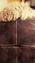 Load image into Gallery viewer, REDUCED PRICE Velvetty rich brown Mongolian shearling jacket. 1970's handcrafted