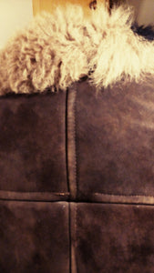 REDUCED PRICE Velvetty rich brown Mongolian shearling jacket. 1970's handcrafted