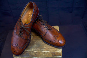 Vintage deadstock Alan McAfee oxford shoes. Made in England. 1950's. US size 6 1/2