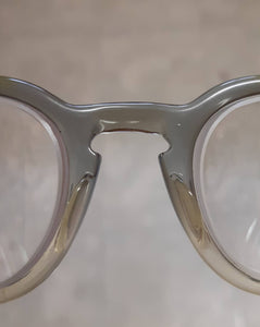 SOLD* Rare 60's vintage American Optical translucent faded grey keyhole bridge eyeglasses