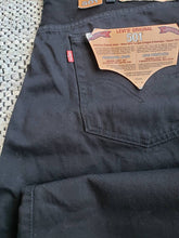 "Load image into Gallery viewer, Levi's 501 - 42""x32"" NWT black with red tab"