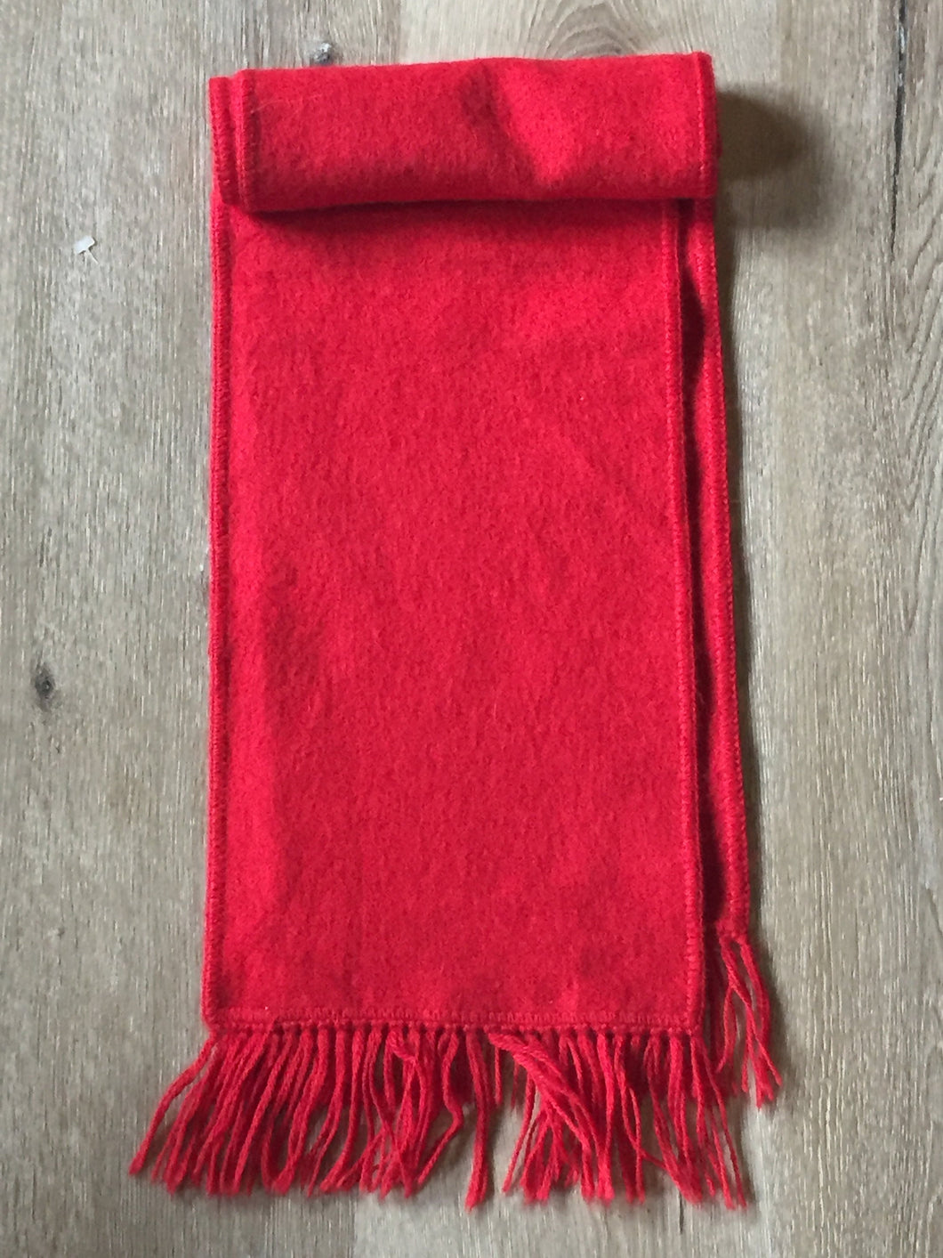 (SOLD) Vintage red wool scarf