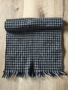 "Kingspier Vintage - Plaid wool scarf 12""x52"""