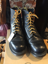 Load image into Gallery viewer, Kingspier Vintage - <p>Vintage seven eyelet Doc Martens <br> Made in UK<br> Black <br> Size EU 42 <br> *Some slight wear as seen in the third photo.</p>