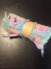 Load image into Gallery viewer, Multi-coloured mohair scarf