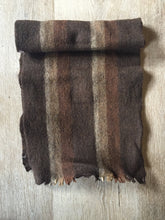 "Load image into Gallery viewer, Kingspier Vintage - Vintage ""pre-shrunk"" brown striped wool scarf."