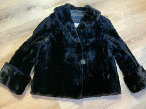 Northern Fur Company, Made in Canada Vintage Shorn Beaver Fur Coat