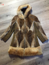 Load image into Gallery viewer, Vintage Northern Canadian Hooded Fur and Suede Coat with Fox Fur Trim