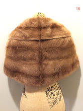 "Load image into Gallery viewer, Kingspier Vintage - ""Furs by Offman"" vintage blonde sable fur stole, made in Halifax, Nova Scotia, Canada. The lining features an embroidered monogram ""MB"" and the Offman label."