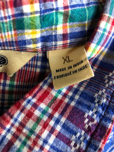 Salt Valley Western Plaid Snap Button Up Shirt