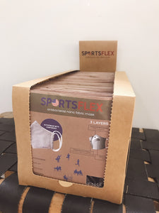 50 pc Box of SportsFlex Masks Wholesale (Order quantities of 11-50 boxes)