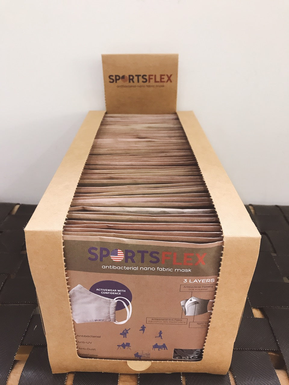 50 pc Box of SportsFlex Masks Wholesale (Minimum order 51+ Boxes)