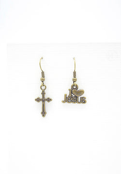 I Love Jesus Earrings