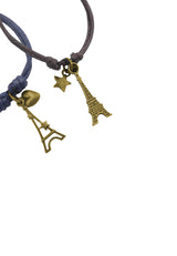 Paris Dream Along Couple/ Friendship Cotton Bracelet (Set of Two)
