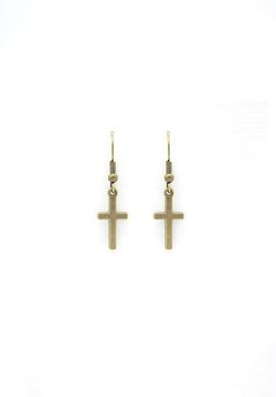 Minimalist Cross Earrings