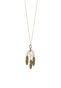 Guardian Angel Dreamcatcher Long Necklace